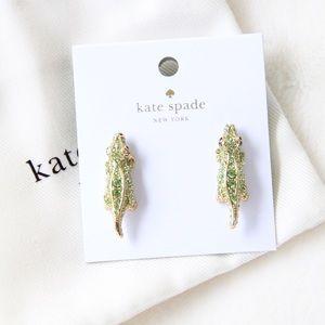 kate spade Jewelry - Kate Spade Swamped Pave Alligator Stud Earrings